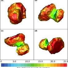 Scalar gravitation of the comet 67P